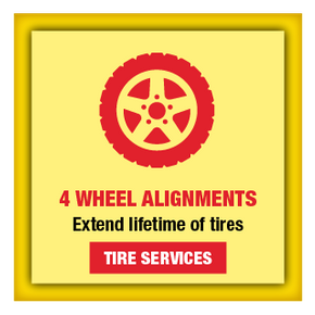4 Wheel Alignments | Extend lifetime of tires | Tire Services